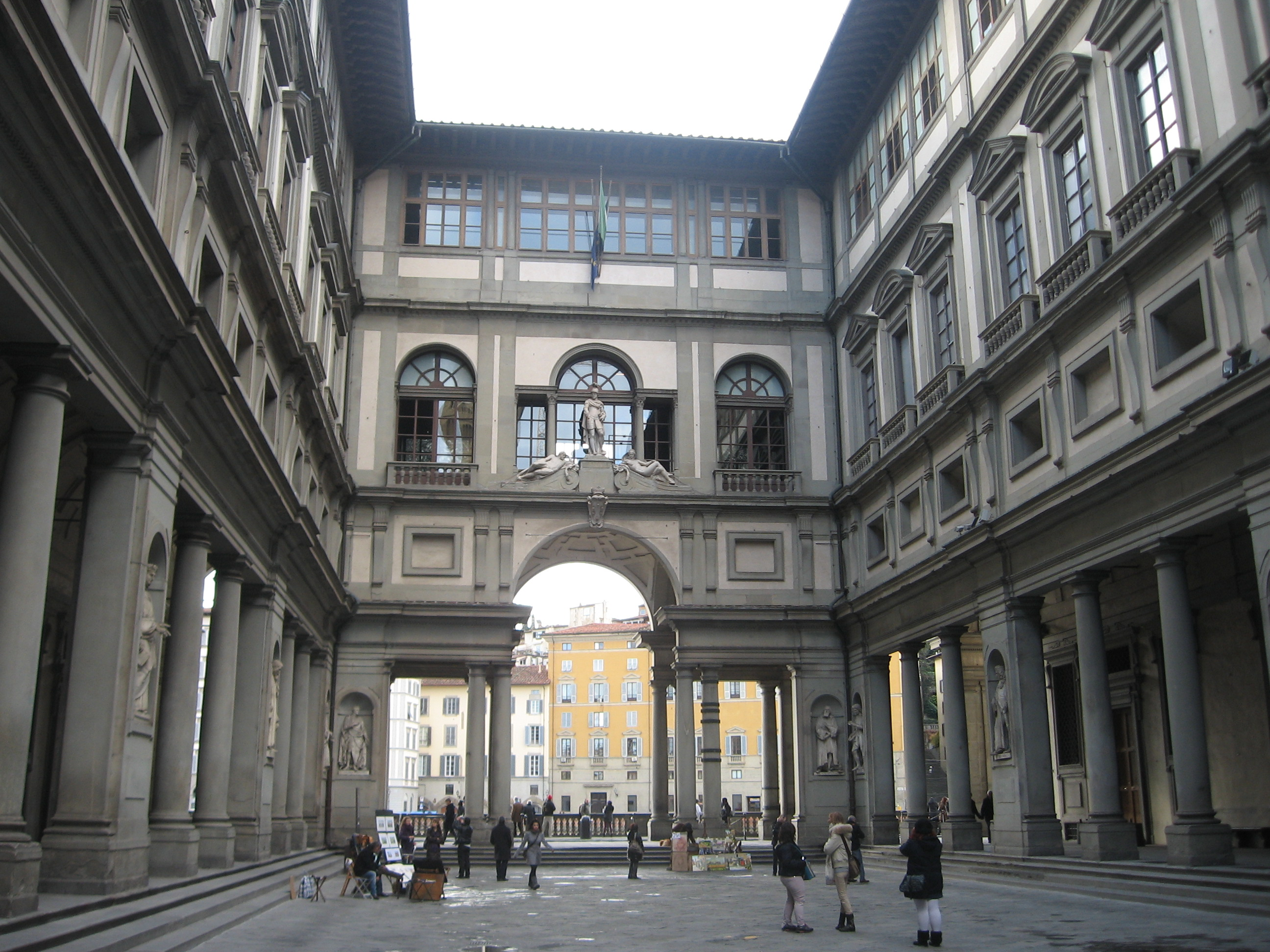 museums and galleries the uffizi gallery  florence  italy